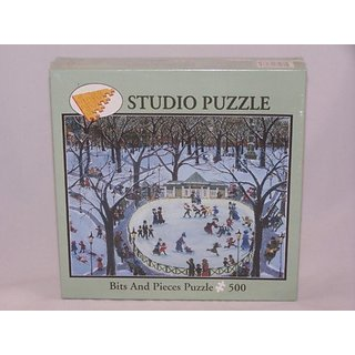 Frog Pond in Winter, 500 Piece Puzzle, By Kemon Sermos