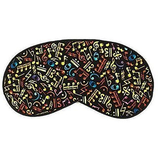 Cute Sleeping Eye Mask #07 Colorful G Clef Soft and Smooth Hand Washable Eye Cover Sleep Mask for Girls or Women, Men
