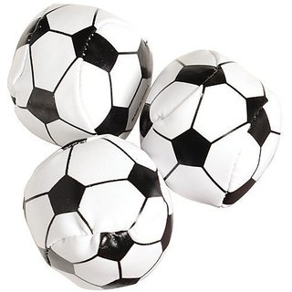 USToy Soccer Balls Party Favors -Assorted Colors,Size 1 3 4