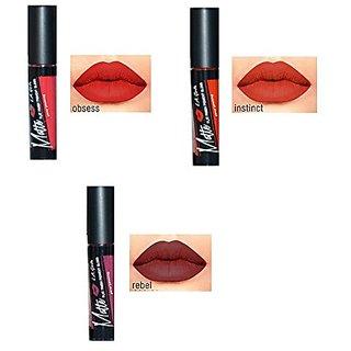 LA Girl Matte Pigment Gloss Reds: Obsess, Instinct and Rebel