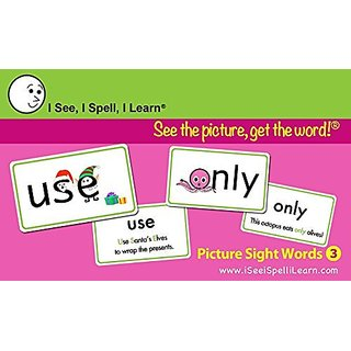 I See, I Spell, I Learn - Picture Sight Words Flashcards Set 3
