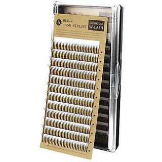 Blink W Lash Mix Size 8~15 mm False Eyelash Extension D Curl Thickness 0.15mm (DX0.15)