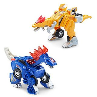 VTech Switch & Go Dinos - Incredible Speed Dinos 2-pack with Quiver & Stompsalot