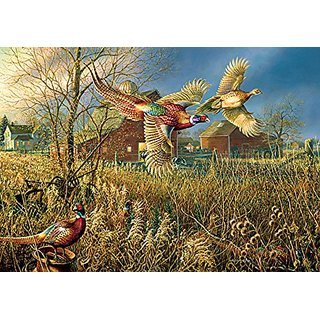 Gathering by the Barn Jigsaw Puzzle
