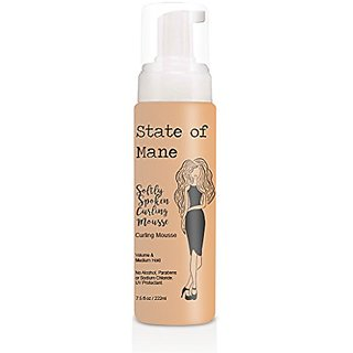 Volumizing Mousse For Soft Curly Hair By State Of Mane - Alcohol Free