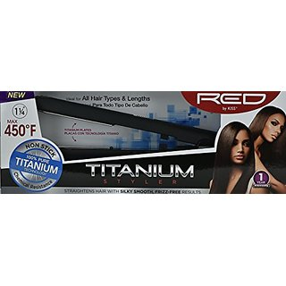 Red by Kiss Titanium Styler 1.25 Inch FITS125 by Red Kiss
