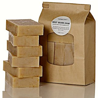 SIMPLICI Sweet Brown Sugar Bar Soap Value Bag (6 Bars)