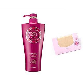 Missha Dong Baek Gold Shampoo Premium 500ml Moist Healthy Hair Care + SoltreeBundle Natural Hemp Paper 50pcs