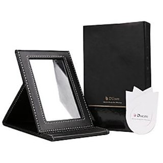 DUcare Folding Makeup Mirror, Portable Multi-used Cosmetic Mirror Black