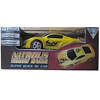 Yellow Nitrous Street Racer Super Quick RC Car