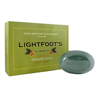 Lightfoots Pure Pine Gentlemens Athletic Soap - 4 Bar Boxed Set