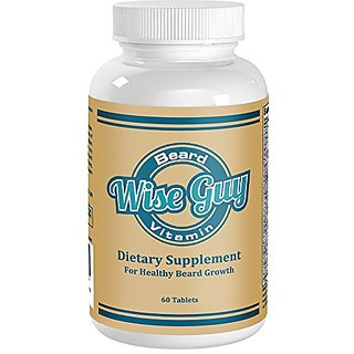 WISE GUY Beard Growth Vitamin The Best Selling Mens Facial Hair Growth Supplement Provides Strong Proteins and Nutrients