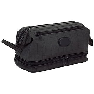 Danielle Triple Pocket Dopp Kit, Black