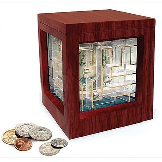 Deluxe Wooden Money Maze