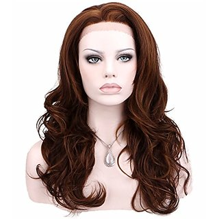 KeeWig Synthetic Brown Lace Front Wig Long Wavy Mix 3 Tone COCO #P33/30/27