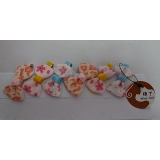 WittyGirl (TM) Cute Hair Clips Mix Colored Set 6pcs For Kids Baby pink/Ivory