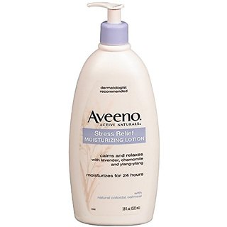Aveeno Body Moisture Stress Relief Moisturizing Lotion, 18 Ounce (Pack of 3)