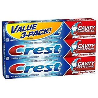 Crest Cavity Protection Fluoride Anticavity Regular Toothpaste 6.4 Oz, 3-pack