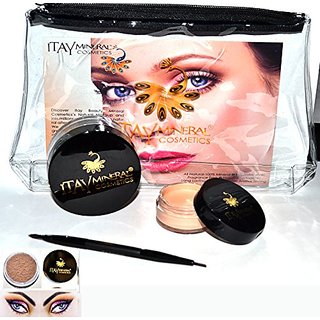 Bundle 4 Items: Itay Brow Building Fiber 5 gr.+Wax+Premium Duo Brush +Bag(MD BLONDE)