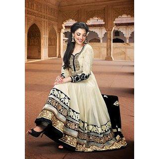 Palashfashion's Royal Looking White Color Georgette Fancy Designer Salwar suit dress material