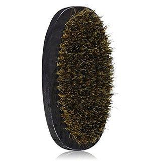 Diane D8114 5-Inch Mens Boar Bristle Palm Brush - Black