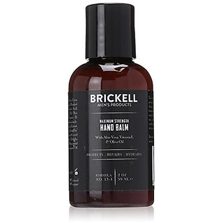 Brickell Mens Maximum Strength Hand Lotion for Men - 2 oz - Natural & Organic
