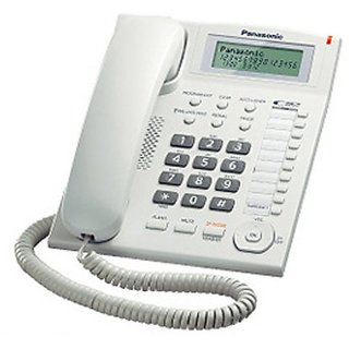 Panasonic Single Line KX-TS880MX Corded Phone (White)