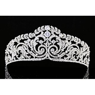 Bridal Pageant Rhinestone CZ Crystal Wedding Prom Princess Tiara Crown T922