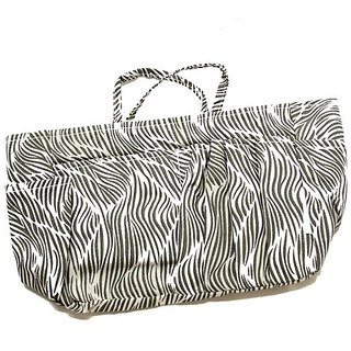 The Plaid Purse Bag Organizer - Zebra Print