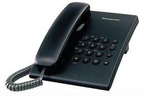 Panasonic Single Line KX-TS500MXBD Corded Phone (Black)