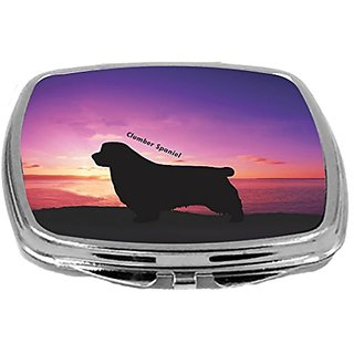 Rikki Knight Clumber Spaniel Dog At Sunset Design Compact Mirror