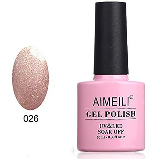 AIMEILI Soak Off UV LED Gel Nail Polish - VIP Mocca (026) 10ml
