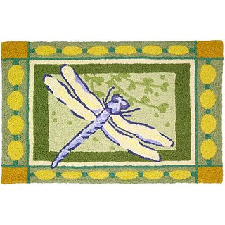 Jellybean Dragonfly Indoor Outdoor Rug