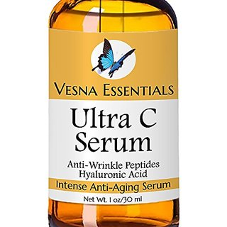 Vitamin C Serum - ORGANIC - The #1 Anti Aging Serum For Younger Skin As You Age - Anti Wrinkle Serum - GUARANTEED - Rece