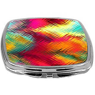 Rikki Knight Compact Mirror, Tropical Abstract Gaussian