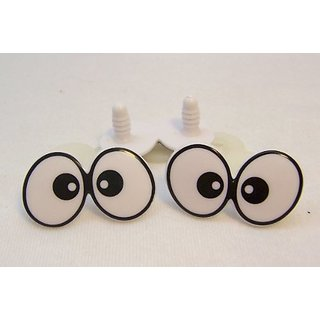 Sassy Bears 20mm Flat Double Comic Safety Eyes for Bear, Doll, Puppet, Plush Animal and Craft - 5 Pairs