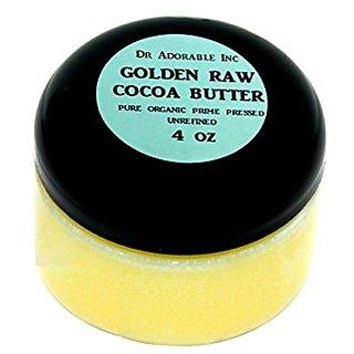 GOLDEN COCOA BUTTER ORGANIC RAW Grade A PRIME PRESSED UNREFINED 4 OZ