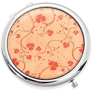 Pink Clover Cosmetic Mirror