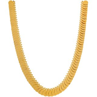 Golden Laxmi coin long necklace