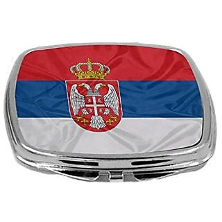 Rikki Knight Compact Mirror, Serbia Flag