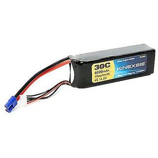 Kinexsis 14.8V 4000mAh 4S 30C LiPo 12AWG EC3 Battery