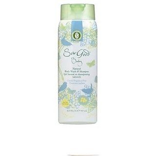 Sow Good Fragrance Free Babys Natural Body Wash and Shampoo, 16.9 Ounce
