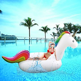 SoloFleet Giant Inflatable Unicorn Pool Floats 108