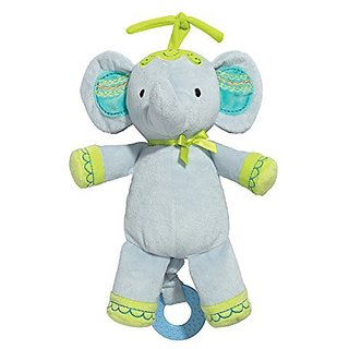 Baby Dumpling Little Fair Plush Musical Pull Toy, Elephant