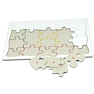 Paint Your Own 20 Piece Sequenced Jigsaw Puzzle for Dementia and Alzheimers