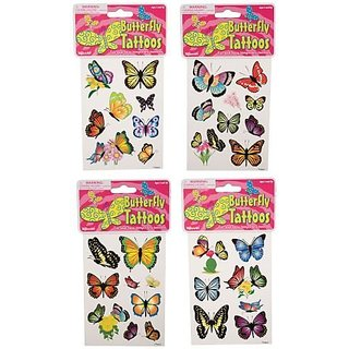TATTOOS-BUTTERFLIES - EACH PACKAGE SOLD SEPERATELY