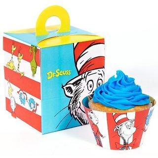 Dr Seuss Party Supplies - Cupcake Wrapper and Box Bundle