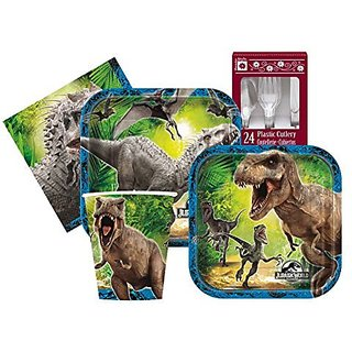 Jurassic World Themed Birthday Party Supply Kit Serves 8