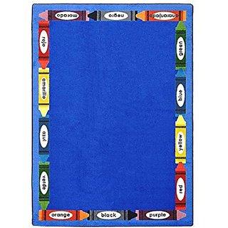 Joy Carpets Kid Essentials Language & Literacy Bilingual Colors Rug, Multicolored, 54