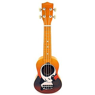 Velocity Toys Graphic Ukulele 4 Stringed Toy Guitar Lute Musical Instrument (Orange)